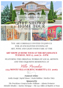 Evite - Art Show & Home Tour
